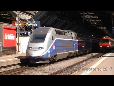 swiss trains and much much more at zurich HB Main Train Station AUG 2017