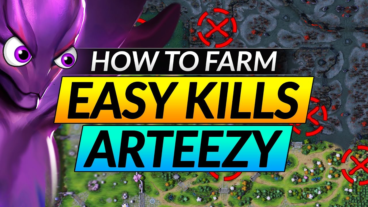 How to FARM EASY KILLS with This MAPHACK TRICK - Arteezy CARRY Spectre Tips - Dota 2 Guide
