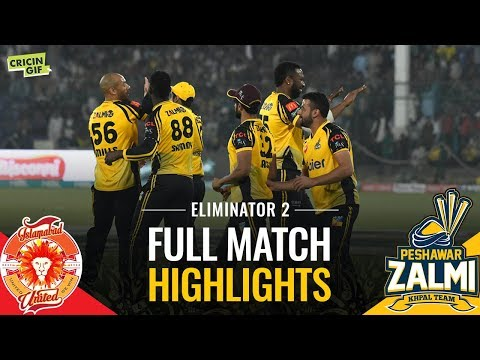 PSL 2019 Eliminator 2: Islamabad United vs Peshawar Zalmi | Caltex Full Match Highlights