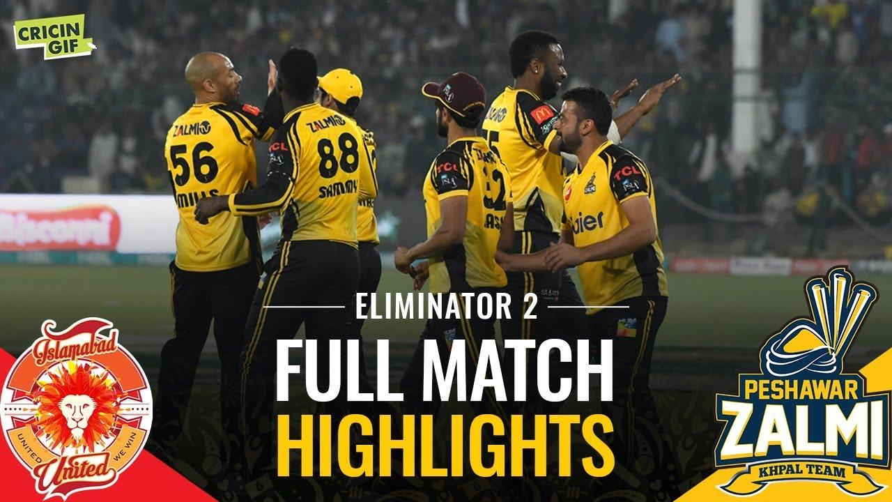 PSL 2019 Eliminator 2: Islamabad United vs Peshawar Zalmi   Caltex Full Match Highlights #1
