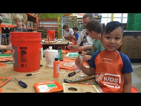 Home Depot Kids Workshop - Football Bean Bag Toss Cornhole Game