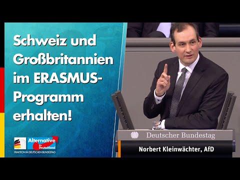 Schweiz & Großbritannien im ERASMUS-Programm erhalten! - Norbert Kleinwächter - AfD-Fraktion