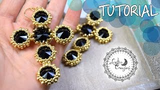 Tutorial Perline: Orecchini Croci Statement | Statement Cross Beaded Earrings | Lunatica Creazioni