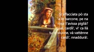 Sergio Bruni canzone  Lu cardillo con testo. Video Mario Ferraro.