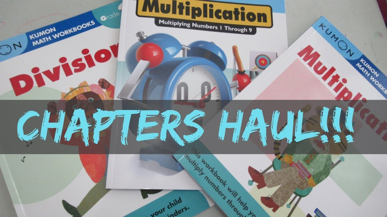 CHAPTERS HAUL - KUMON WORKBOOKS - SUMMER LEARNING - YouTube