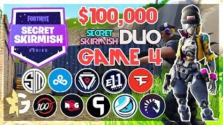 $100,000 🥊Secret Skirmish Duos🥊 Game 4 Viewing Party (Fortnite)