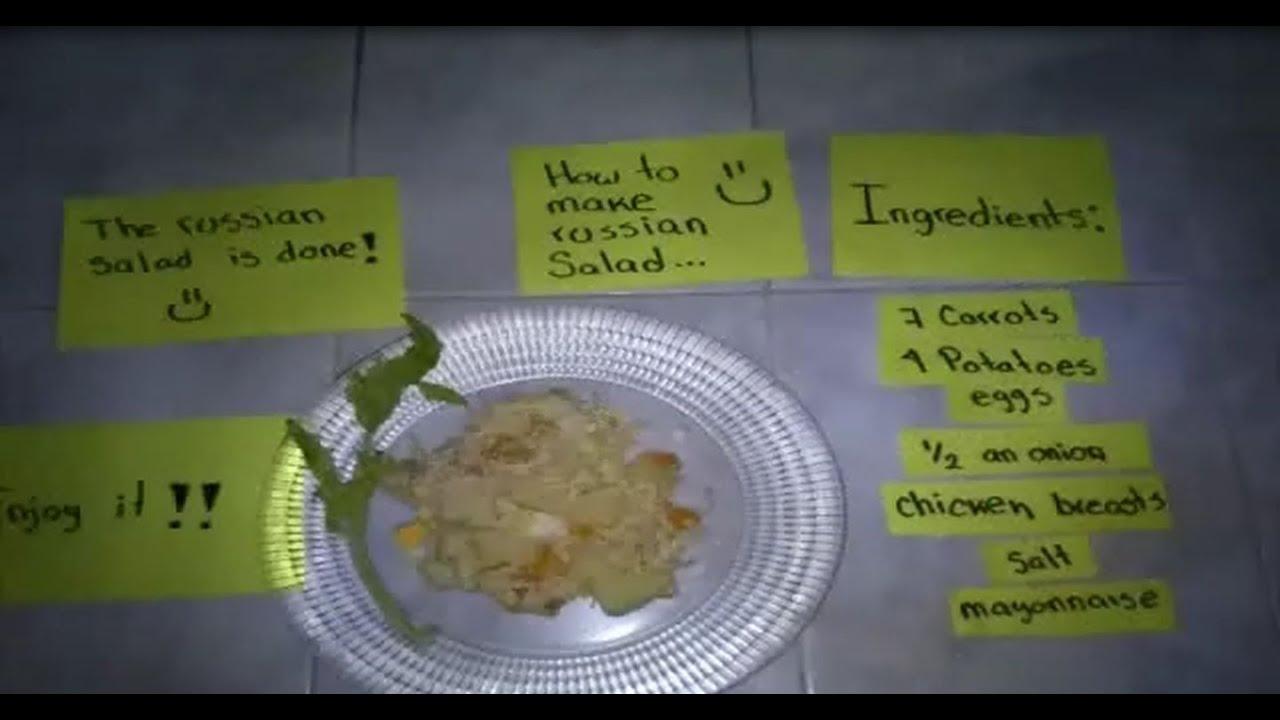 Recetas de ensaladas escritas en ingles