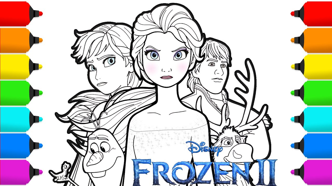 - Frozen 2 Elsa & Anna Drawing And Coloring - YouTube