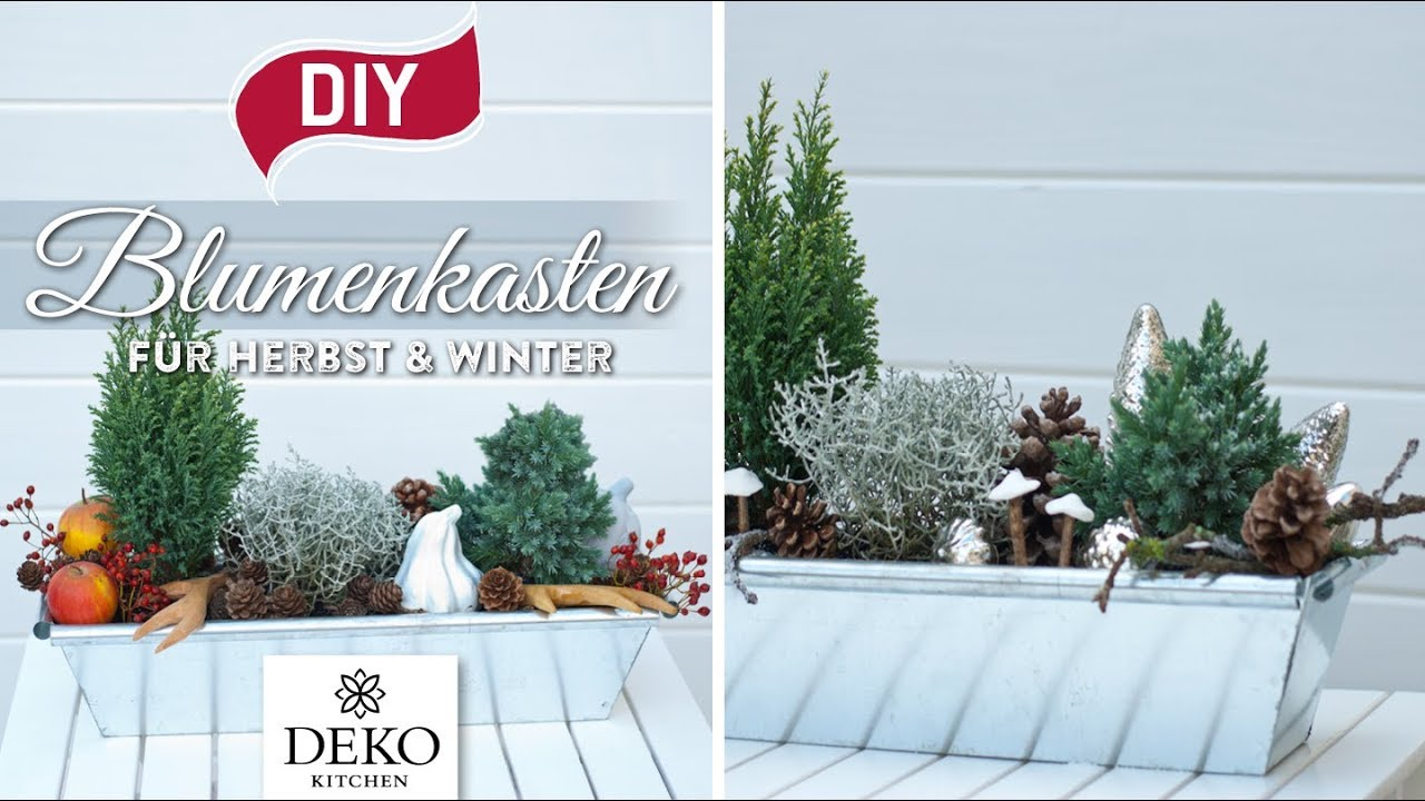 DIY: Blumenkästen für Herbst & Winter dekorieren [How to] Deko Kitchen - YouTube