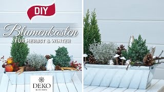 DIY: Blumenkästen für Herbst & Winter dekorieren [How to] Deko Kitchen