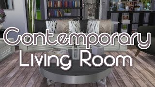 The Sims 4 | Room Build: Contemporary Living Room - Cc Used