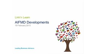 Link'n Learn - AIFMD developments - Deloitte Luxembourg