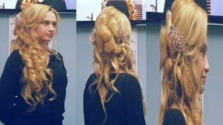 Bridal Updo. Hairstyles for medium long hair. Свадебная прическа на длинные волосы.(майстер-клас MAGIC BLOND 2015 від ТМ KLERAL System. Проводить семінар технолог ТМ KLERAL System в Україні Дарія Воропаєва Подпи..., 2015-03-13T09:23:52.000Z)