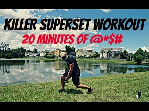 20 minute Superset Workout - 4 Workouts in 1 Video!