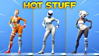 *NEW* HOT STUFF EMOTE On All New Fortnite Skins & With All Popular Fortnite Skins!