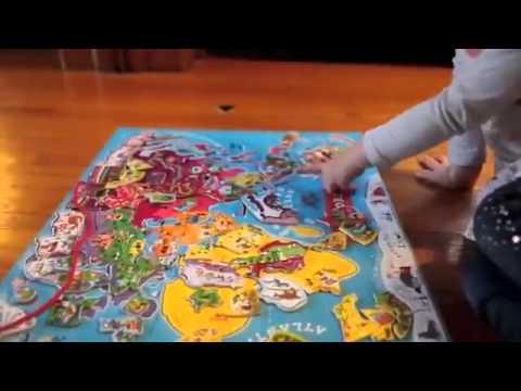 Janod Magnetic World YouTube - Magnetic us map puzzle janod