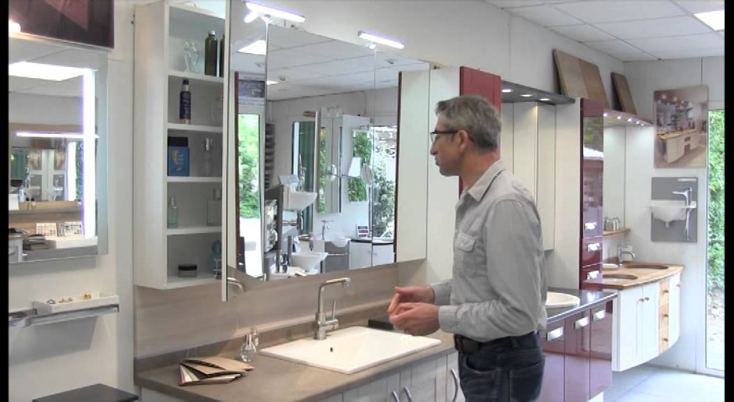 Armoires de toilette atlantic bain youtube for Armoire de toilette miroir ikea