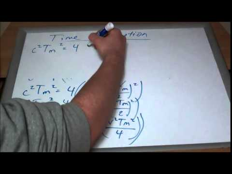 Derivation Time Travel Equation