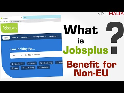 What is Jobsplus in MALTA, Jobsplus Malta Vacancies, Malta Jobs Plus, How Jobsplus useful for Non-EU