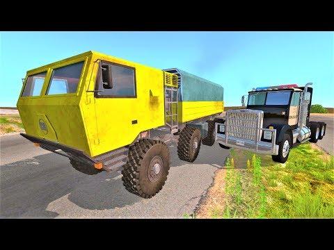 Гонки на грузовиках по бездорожью - Мультики про машинки для мальчиков