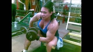 Tihonchuk Ludmila biceps training