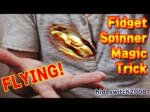 Amazing technique! HOW TO MAKE FIDGET SPINNER FLY MAGIC TRICK