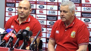 Warren Gatland & Rory Best Full Pre-Match Press Conference - Lions vs Hurricanes thumbnail