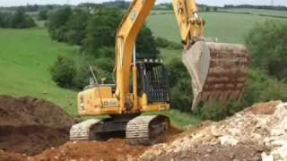 how to get an excavator down a 45 degree bank kwr plant hire