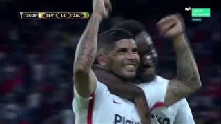 UEFA Europa league. E. Banega amazing goal (Sevilla 1:0 Zalgiris)
