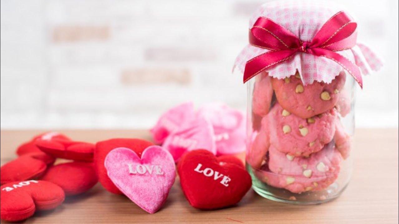 Рецепты на День Валентина Розовое печенье с белым шоколадом