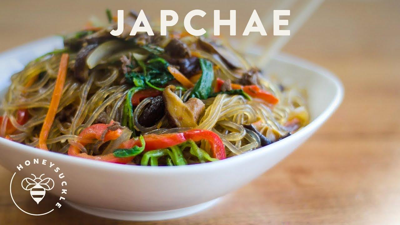 japchae recipe honeysuckle Korean JapChae Recipe (Glass Noodle 잡채)  HONEYSUCKLE