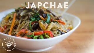 Korean JapChae Recipe (Glass Noodle 잡채) - HoneysuckleCatering