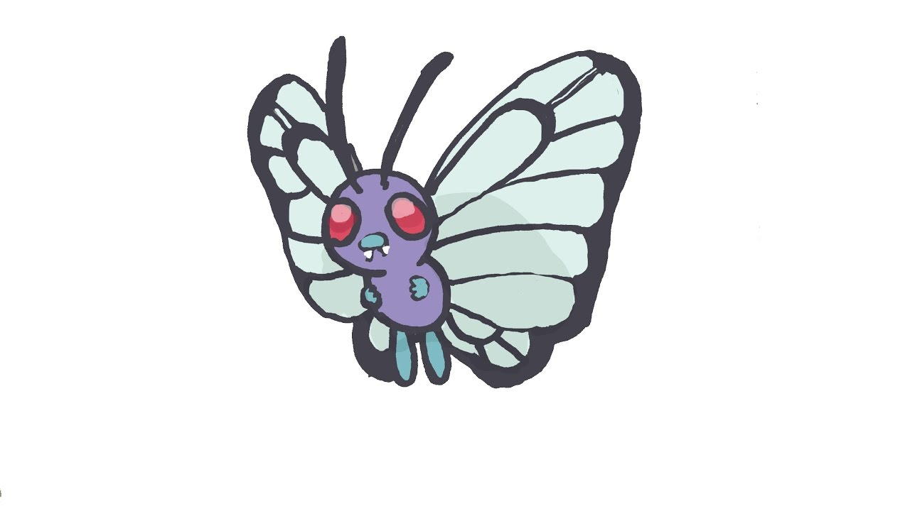 How To Draw Butterfree Pokemon Youtube