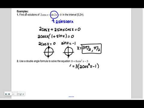 Lesson 40 Precalculus: Double Angle and Half Angle