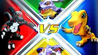 Blackguilmon vs Agumon vs Gabumon vs Malomyotismon [Rumble Arena 2]