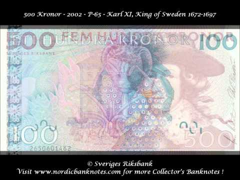 Sweden - Banknotes, Swedish Currency (Actual Issue)