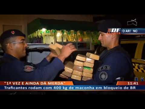 DF ALERTA - Traficantes rodam com 400 kg de maconha em bloqueio de BR