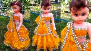DIY/ very beautiful doll design/ how to make doll dress/ decorative doll/ Doll