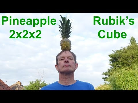 *REAL* Pineapple 2x2x2 Rubik's Cube (fully functional edible puzzle by Tony Fisher)