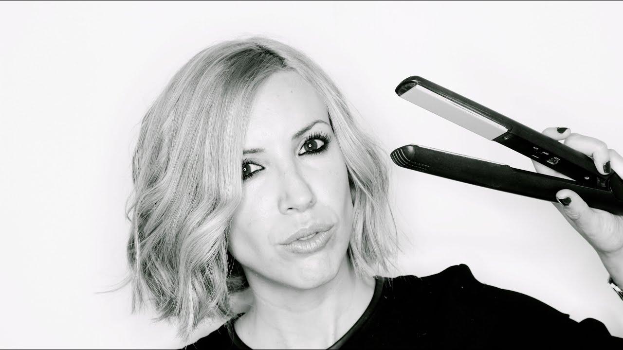 Peinado como hacer ondas en pelo corto bob con plancha - Como realizar peinados ...