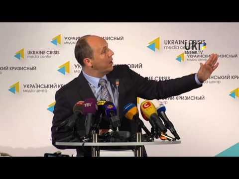 Andriy Parubiy. Ukrainian Сrisis Media Center. May 22, 2014