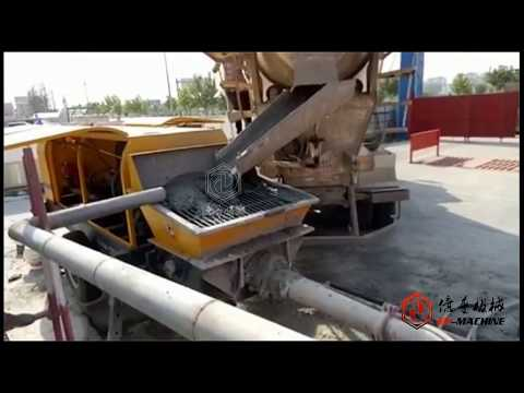 EP Concrete Trailer Pump Working Video