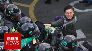 South Korea police clash with protesters   BBC News