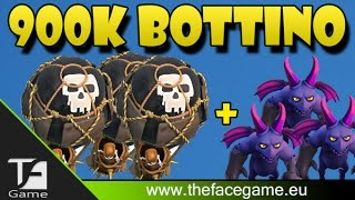 900k Bottino con MONGOLFIERE e SGHERRI --Clash of Clans ITA--
