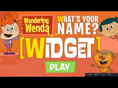 Wandering Wenda What's Your Name Widget  Best videos for kids  Funny game for learn