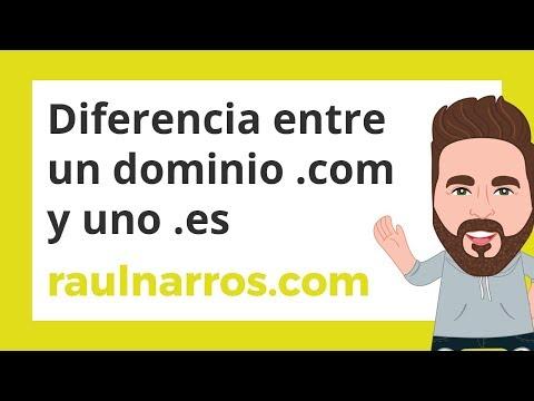 Diferencia entre Dominios con la extensión .com y .es
