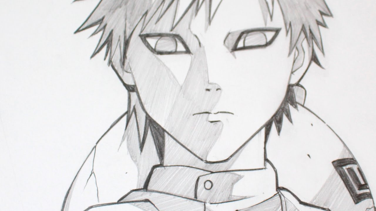 Drawing gaara from naruto anime graphite youtube
