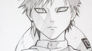 Drawing Gaara from Naruto Anime - Graphite