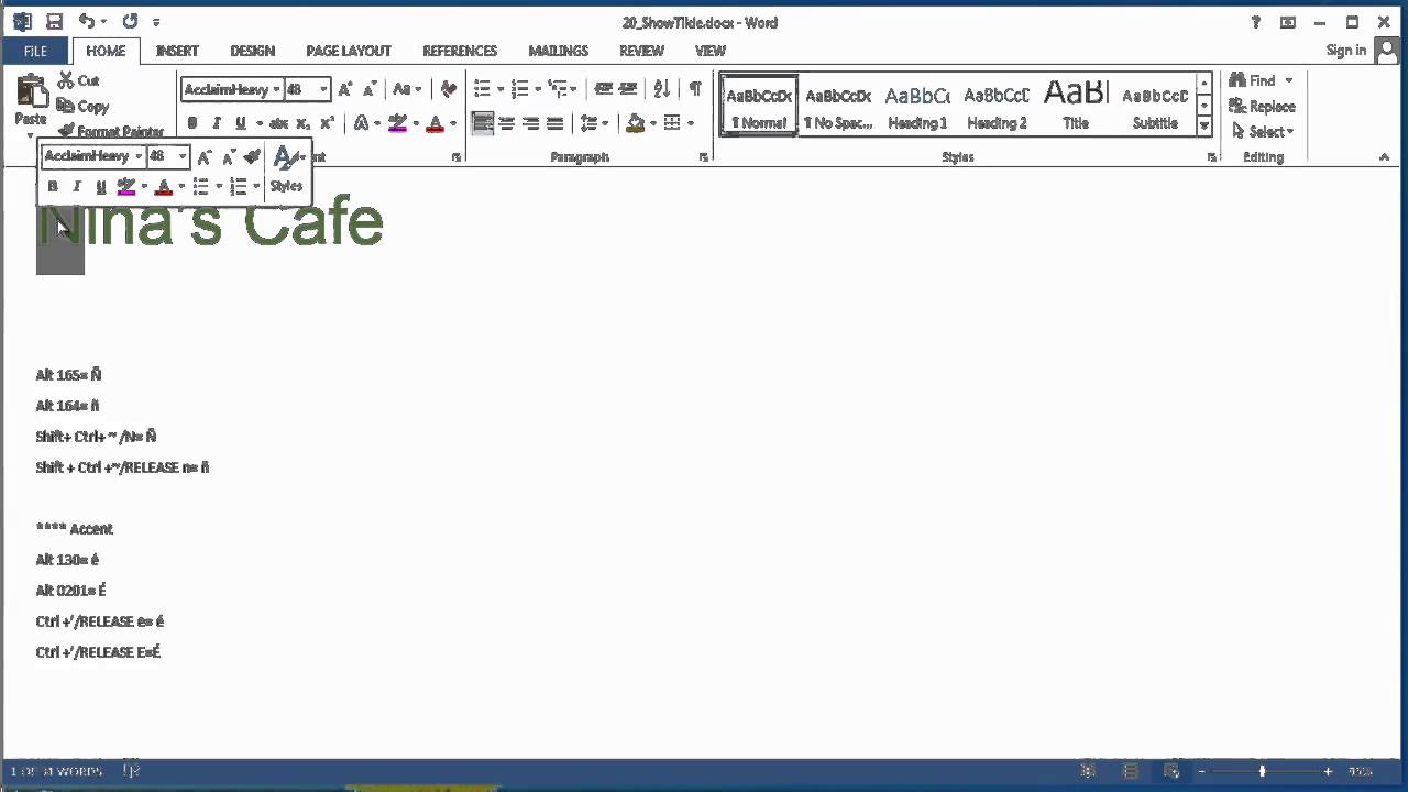 How To Show A Tilde In Microsoft Word Using Microsoft Word Youtube