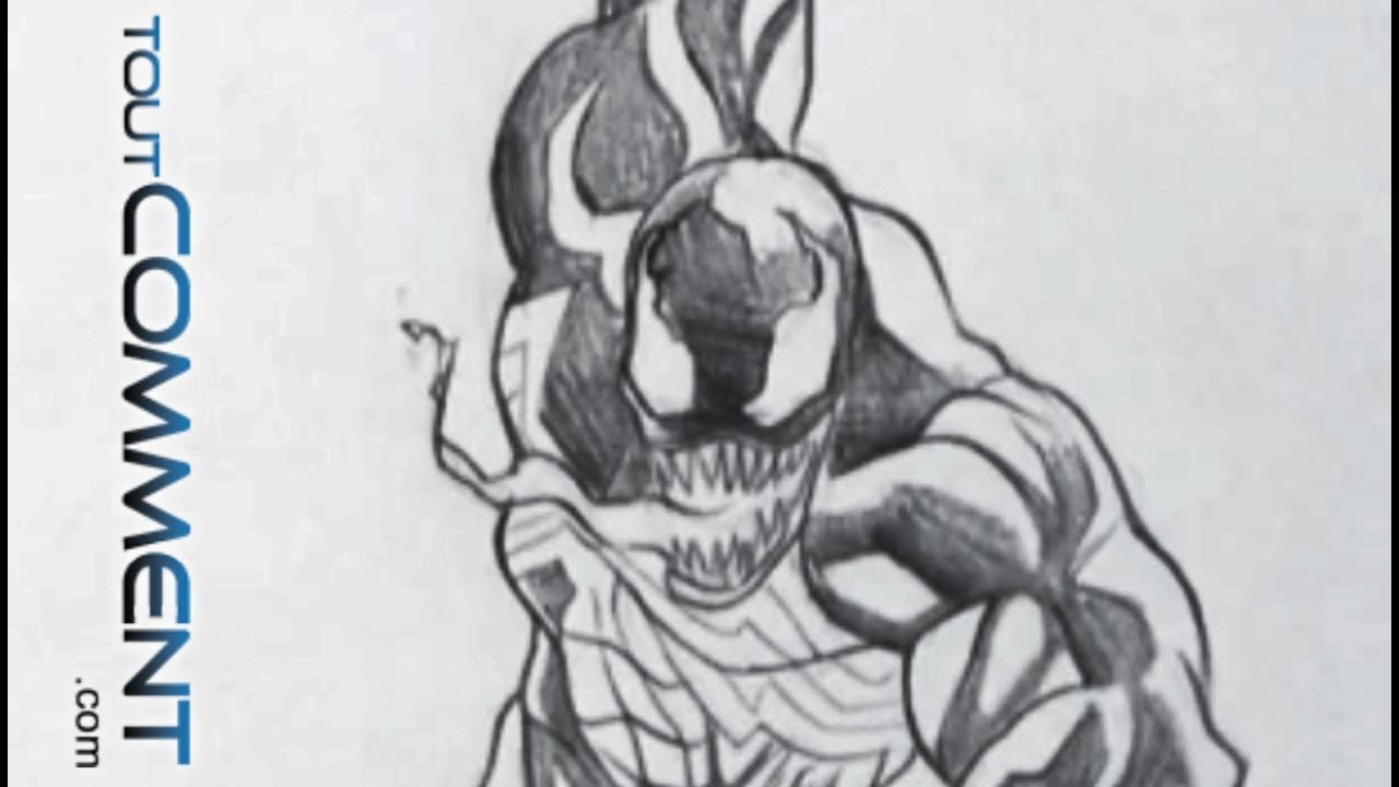 Dessin de venom spiderman comment dessiner un personnage - Dessin spiderman facile ...